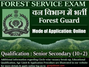 Forest Guard Haryana Recruitment